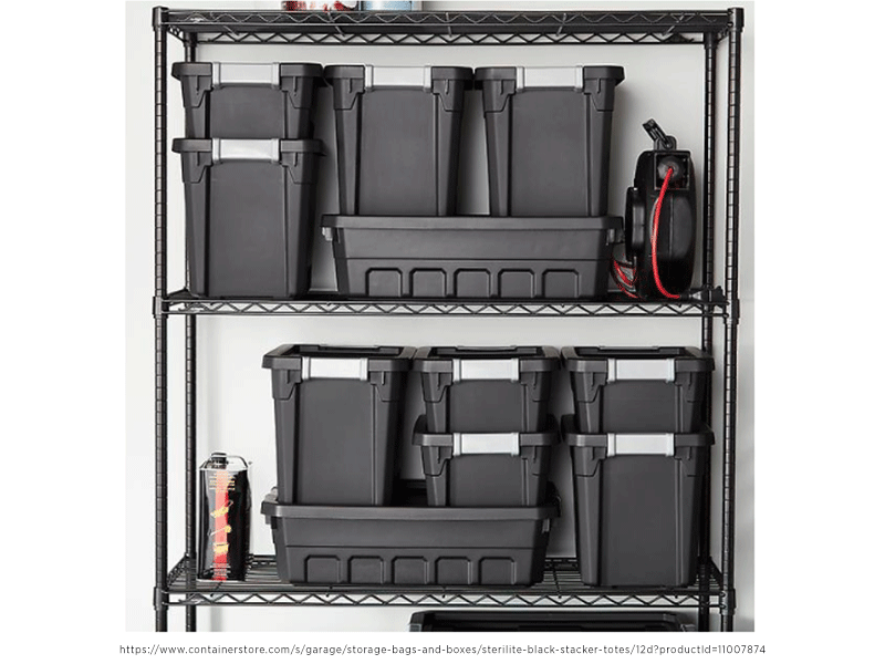garage storage plastic bins